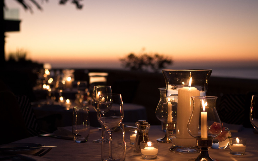 Outdoor dining at Ellerman House