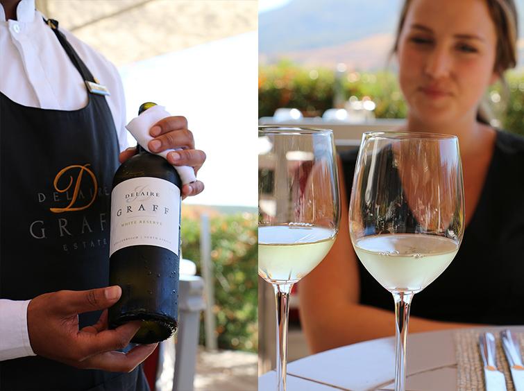 Wine at Delaire Graff Estate
